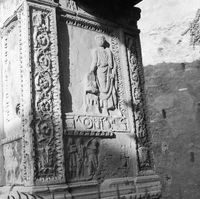 [Arch of Argentarii: inside panel, relief with Septimius Severus (Rome, Italy)]